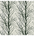 Pattern with trees silhouettes in black vector image