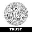 TRUST vector image