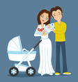 Young family with a baby vector image
