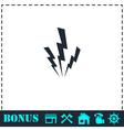 Lightning icon flat vector image