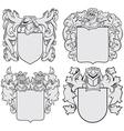 set of aristocratic emblems No6 vector image vector image