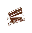 chocolate bar pack icon for cafe vector image