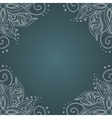 Ornamental frame against dark green background vector image
