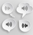 Speaker White flat buttons on gray background vector image