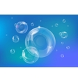 Blue bubbles background vector image