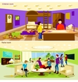 Living Room Banners Set vector image