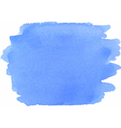 Abstract watercolor texture in blue color vector image