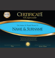 certificate or diploma retro template 03 vector image