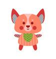 cute cartoon dog animal toy colorful vector image