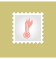 Hot thermometer stamp vector image