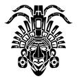 Mayan Mask Tribal Tattoo vector image