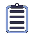 medical clipboard report equipment icon vector image