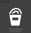 popcorn premium icon white on dark background vector image