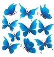 Set butterflies vector image