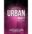 Urban Dance Party Poster Background Template - vector image