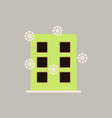 city building with snowflakes vector image