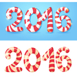 2016 New Year numbers congratulations card vector image