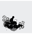 Man working on laptop computer vector image