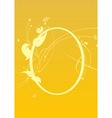 funky floral frame vector image