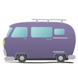 Funny cartoon van vector image
