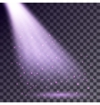 Purple rays from spotlight vector image