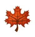 autumn leafs decoration icon vector image