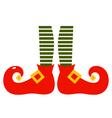 Christmas cartoon elvish legs isolated on white vector image