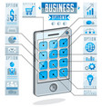 creative infographics concept cell phone vector image