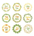 Easter wreaths with plants and flowers vector image
