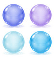glass balls set of blue 3d shiny sheres isolated vector image