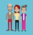 grandparents and mother family image vector image