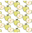 Green apple pattern vector image
