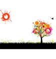 grunge nature background vector image