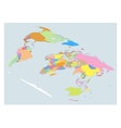 Isometric High Detail World map All elements are vector image