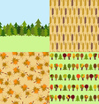 Set of Autumn Nature Seamless Patterns Backgrounds vector image