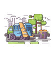 truck garbage collect trash vector image