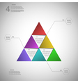 Colorful triangle for data presentation vector image vector image