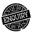 Enquiry rubber stamp vector image