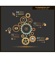 Infographic design template with gear chain vector image