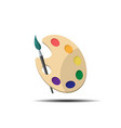 palette with paint brush vector image