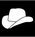 cowboy hat it is icon vector image