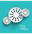 christmas snowflakes 2911 vector image vector image
