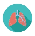 Lungs in Black and White vector image vector image