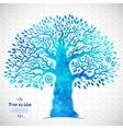 Unique watercolor ethnic tree of life vector image vector image