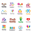big set of logos family vector image