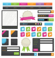 web objects vector image vector image