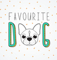 Background French Bulldog for design and decor vector image