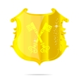 gold power emblem vector image vector image