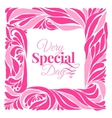 Very special day ornament frame vector image