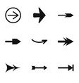 arrow icons set simple style vector image